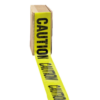 "Impact Site Safety Barrier Tape, ""Caution"" Text, 3"" x"