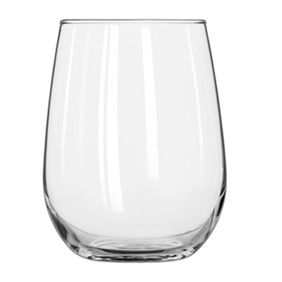 Libbey Stemless Wine Glasses, 17 oz, Clear, White Wine