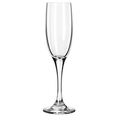 Libbey Charisma Glasses, 6 oz, Clear, Tall Champagne