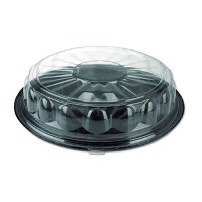 Pactiv Round SmartLock CaterWare Trays, 1-Comp,