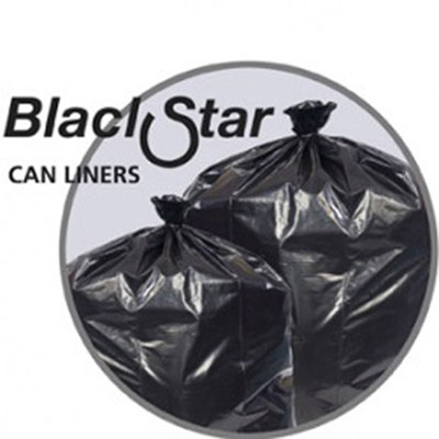Penny Lane Black Star Low-Density Can Liners, 12-16