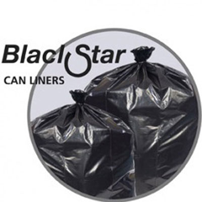 Penny Lane Black Star Low-Density Can Liners, 40-45