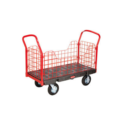 Rubbermaid Commercial Side-Panel Platform Truck,