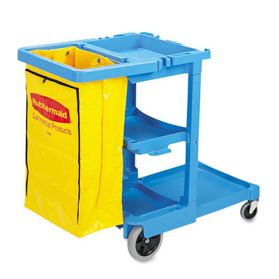 Rubbermaid Commercial Multi-Shelf Cleaning Cart, 3