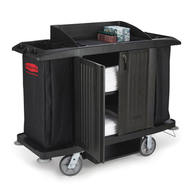 Rubbermaid Commercial Full-Size Housekeeping Cart,
