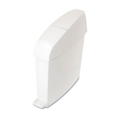 TC Sanitary Bin, Rectangular, Plastic, 3 gal, White