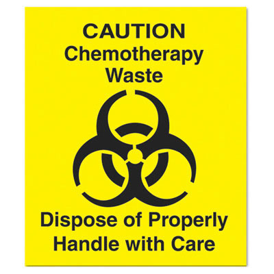 "Rubbermaid Commercial Medical Decal, ""Chemotherapy Waste"","