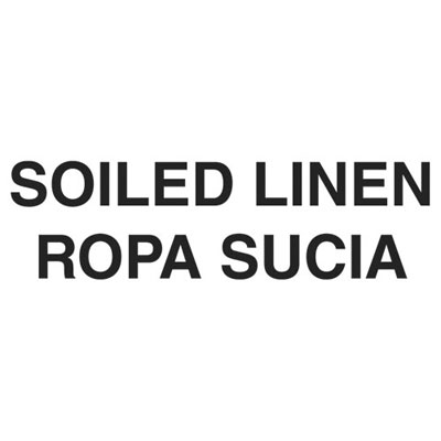 "Rubbermaid Commercial Medical Decal, ""Soiled Linen"", 10 x"