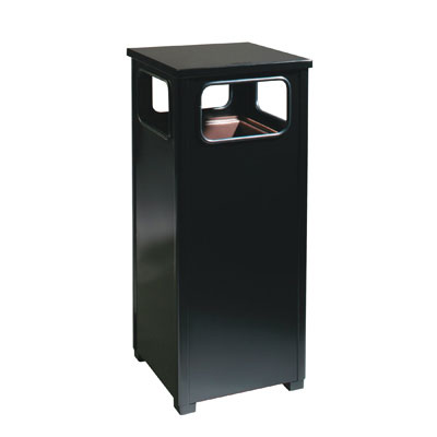 Rubbermaid Commercial Flat Top Waste Receptacle, Square,