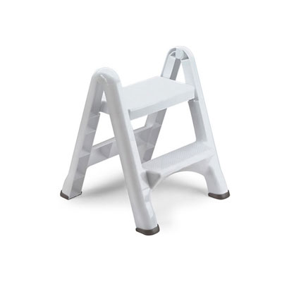 Rubbermaid EZ Step Two-Step Folding Stool, 19 1/2l x 20