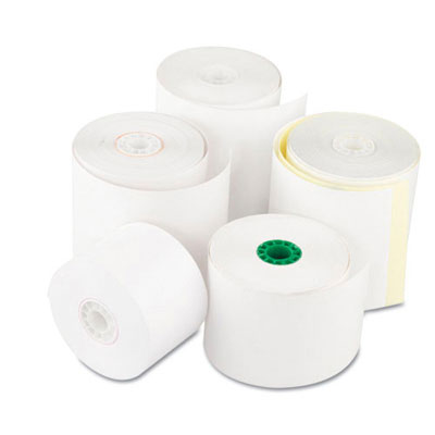 Royal Paper Register Roll, 44 mm x 130 ft, White Bond, 1 Ply