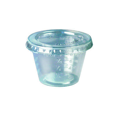 SOLO Cup Company Plastic Medical & Dental Cups, 1 oz.,
