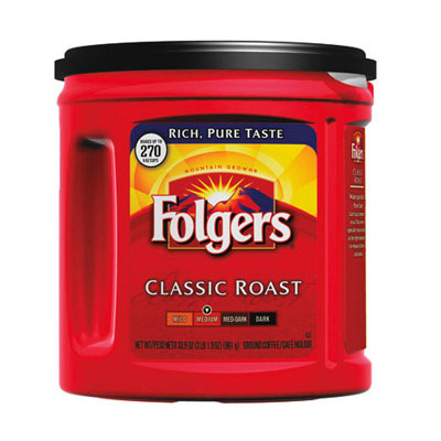 Folgers Coffee, Classic Roast Regular, Ground, 33.9 oz., Can