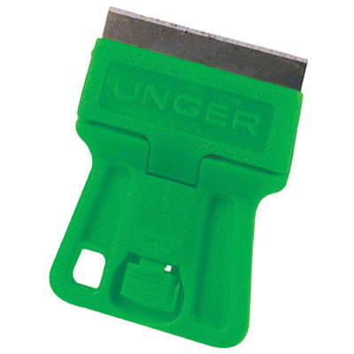 Unger MiniScraper without Blade, Green Plastic, For Use