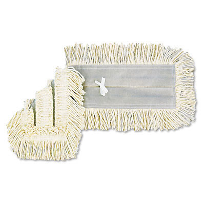UNISAN Disposable Dust Mop Head, Cotton/Synthetic Blend,