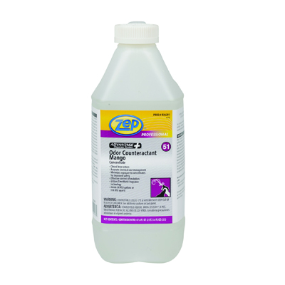 Zep Professional Concentrated Odor Counteractant, Mango, 2L